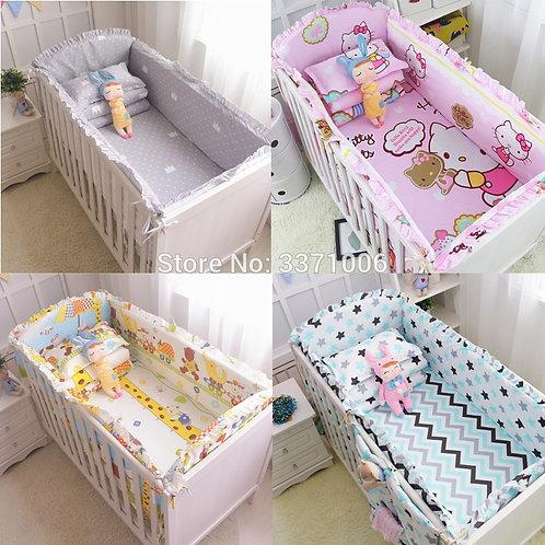 6Pcs Cartoon Baby Crib Bumpers Bedding Sets