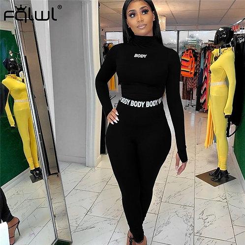 2 Piece Set Women Suit Sportwear Tracksuit