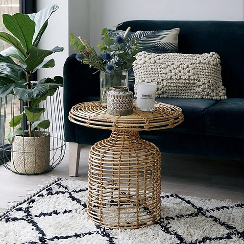 Nordic Rattan Side Table