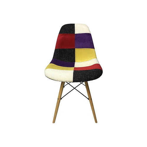 Eiffel Patchwork Chair - C - Wooden Legs