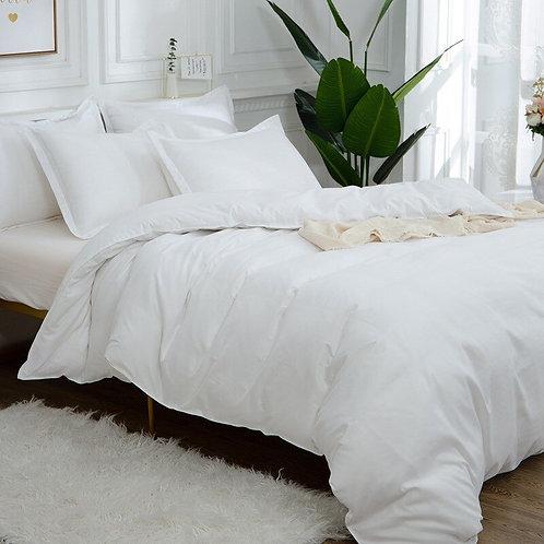 Egyptian Cotton White Comforter Bedding Sets