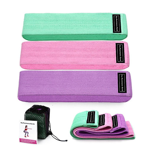 Resistance Bands 3-Piece Set Fitness  Exercise Equipment