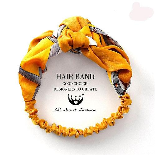 Twist Cross Floral Elastic Knotted Headband