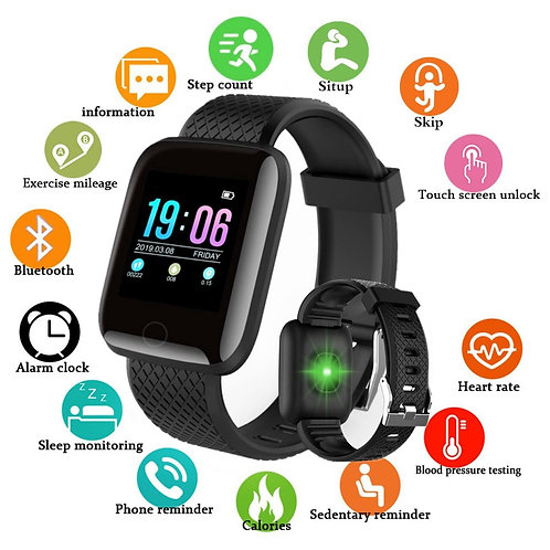 Bluetooth Smart Watch- Track Your Blood Pressure, Heart Rate  for Android IOS
