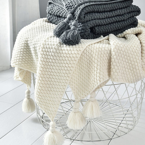 Nordic Sofa Blanket Chunky Knit Blankets for Beds Weighted Blanket