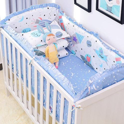 Newborn Baby Bedding Set 100% Cotton Crib Bedding Set Includes Cot Bumpers