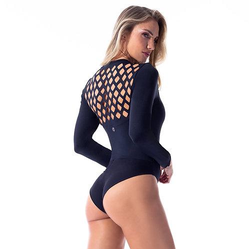 Black Long Sleeve Bodysuit - Secrets