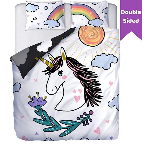 Double Sided Unicorn Bedding Set