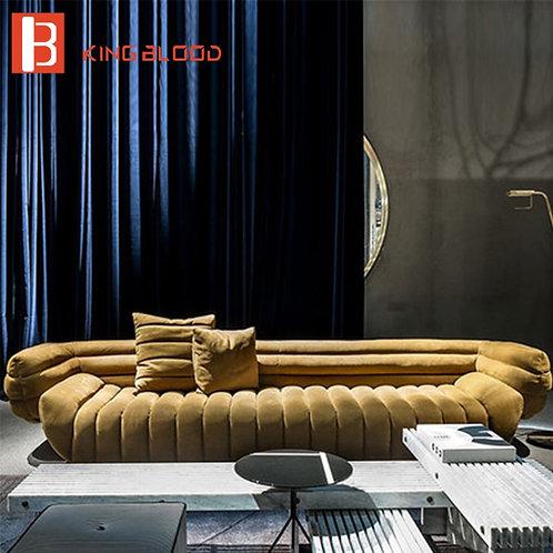 Italy Villa Hotel Furniture Velvet Fabric Sofa Famous Designer Furniture