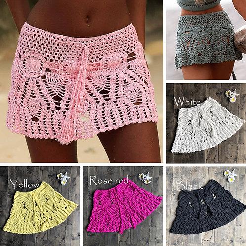 New Sexy Crochet & Tassel Beach Skirt