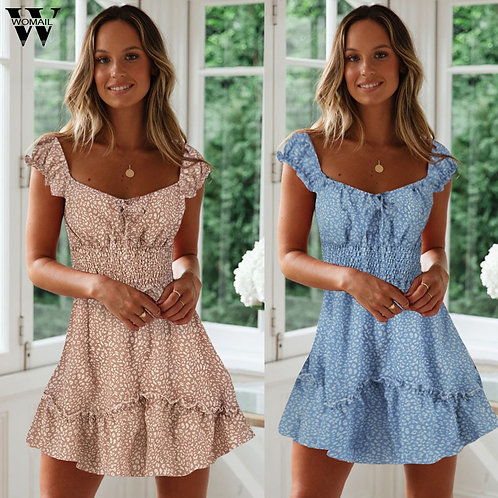 2020 Boho Beach | Vintage Floral Mini Dress