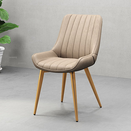 Nordic  Luxury Dining Chairs Simple Modern Leather