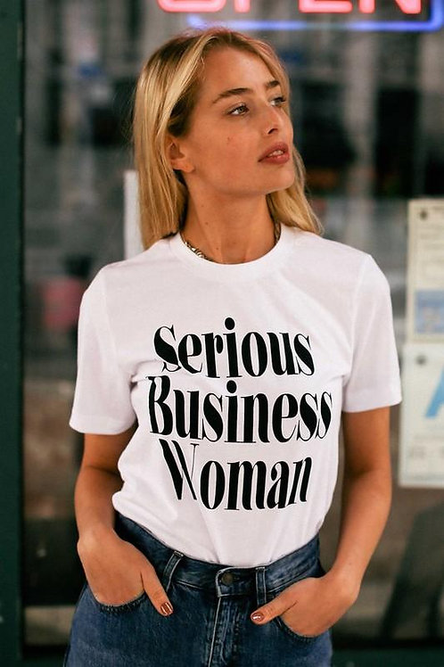 Serious Business Woman Graphic Tee