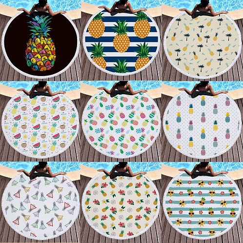 Boho Pineapple Large Blanket, Towel, Picnic Mat, Yoga Mat
