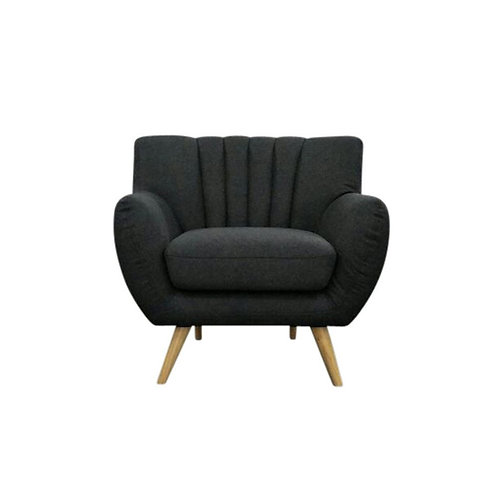 Lilly 1-Seater Lounge Chair - Dark Grey