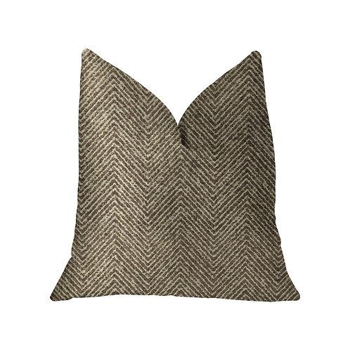 Hillside  Brown Luxury Throw Pillow