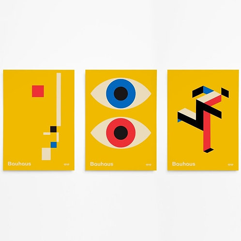 Bauhaus Modern Mid Century Minimalist Art  (No Frame)