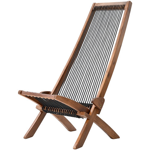 Outdoor Folding Rope Wood Chair