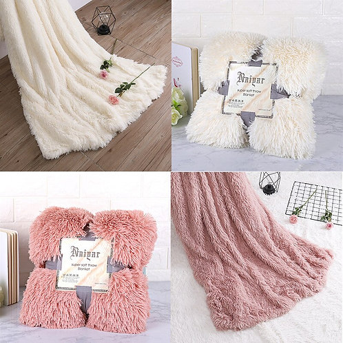 Elegant Cozy Fluffy Throw Blanket