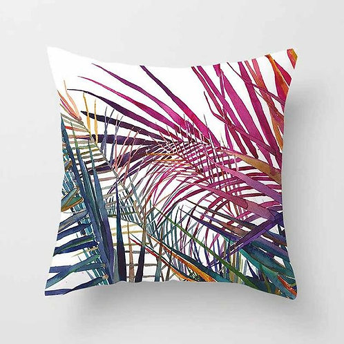 Vintage Flower Tropical Leaves Cushion Cover