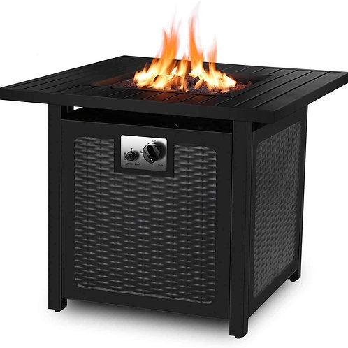 30'' Propane Gas Fire Pit 50,000 BTU  Fire Bowl With Waterproof Cover
