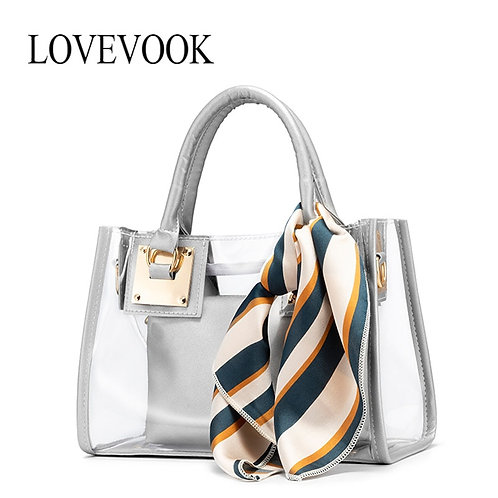 2020 Luxury Brand Clear PVC Jelly Small Tote Crossbody Messenger Shoulder Bags