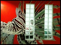 Lion Fish Reef Hq  Mural