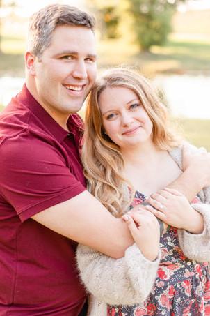Engagement photos Round Barn Winery Baroda Michigan cute couple