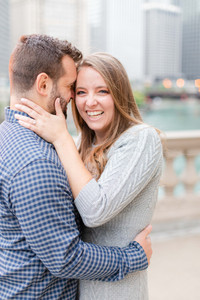 Josh and Andrea Photography Cute couple Chicago smiling lauging