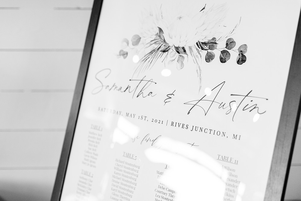Josh and Andrea wedding photography husband and wife photographer team michigan Black Barn Wedding Venue rives junction spring venue reception