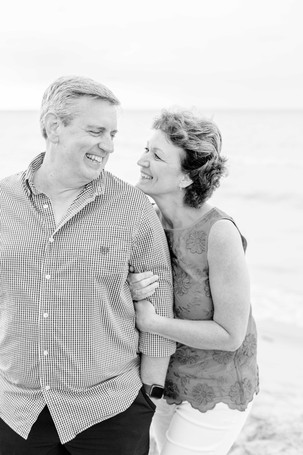 cute older couple on the beach Lake Michigan south haven family shoot