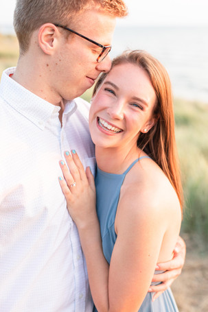 Engagement Photos Tunnel Park Beach Holland Michigan Engaged Couple laughing