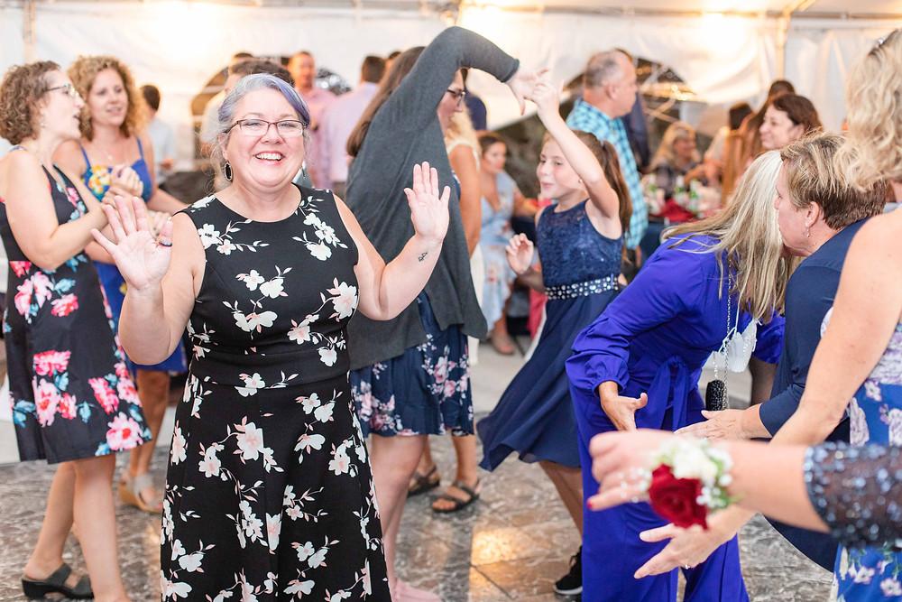 people fun dancing wedding American 1 event center Jackson michigan