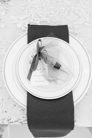 table setting wedding American 1 event center Jackson michigan