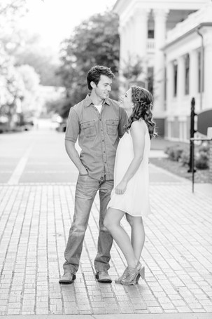 engagement photos cute couple Milledgeville GA Georgia College and State University