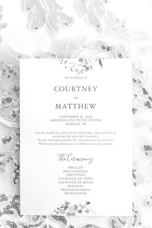 details ceremony service first look wedding American 1 event center Jackson michigan
