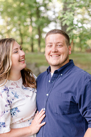 engagement photos cute couple laughing milham park kalamazoo michigan