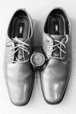 Groom details shoes and watch wedding American 1 event center Jackson michigan