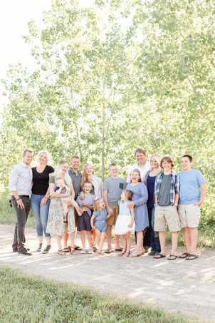 cute family coordinating outfit engel farms photo shoot standing smiling