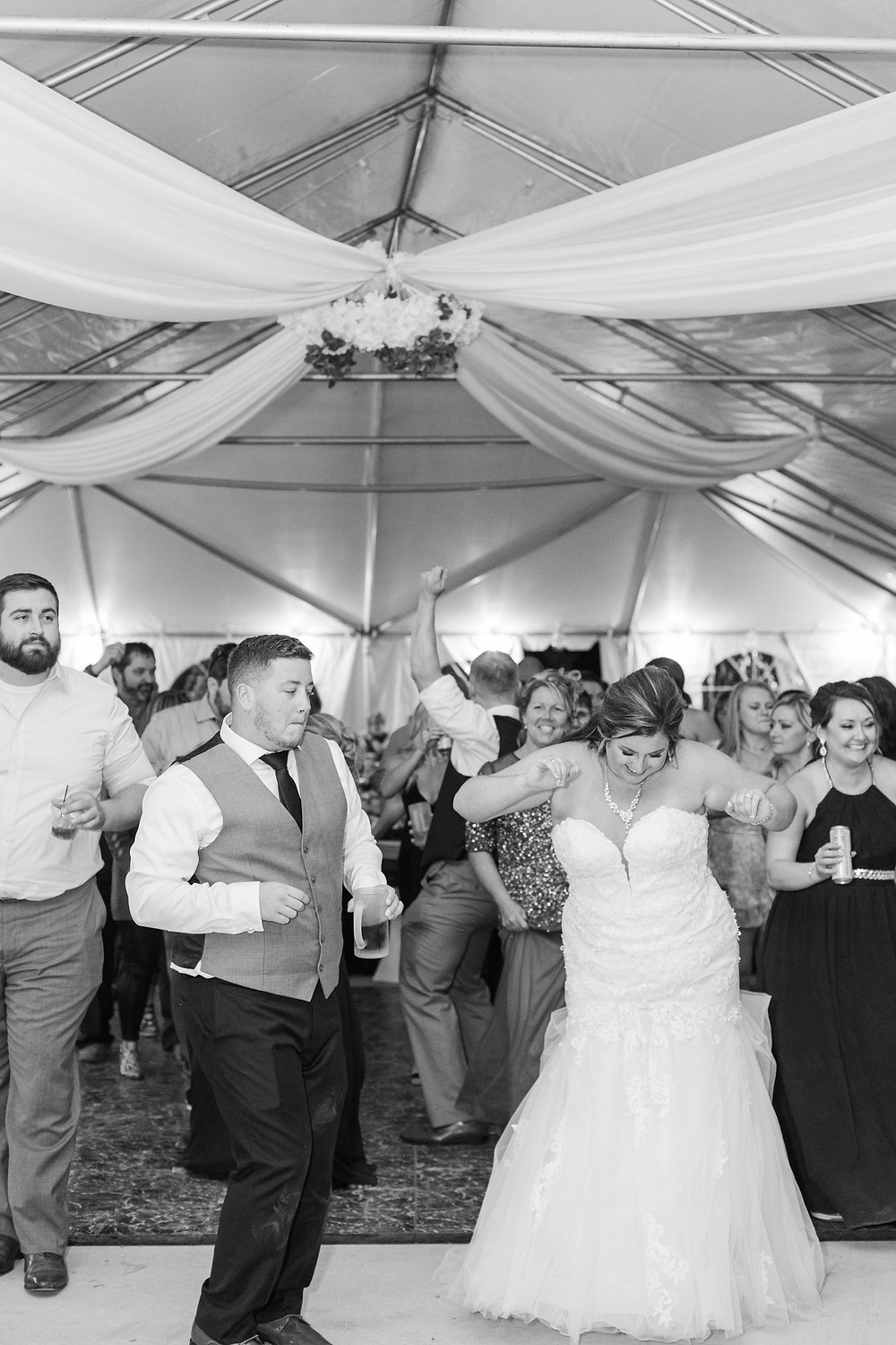 Bride and groom dancing cute couple wedding American 1 event center Jackson michigan