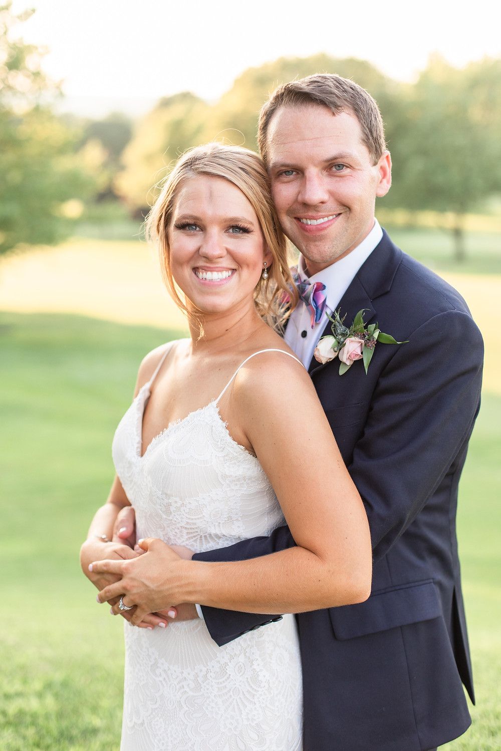 bride and groom portraits Kent Country Club Wedding Grand Rapids