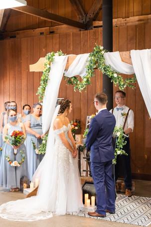 Bride and Groom bridesmaids Saint Patricks Park South Bend Indiana