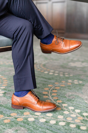 grooms shoes Kent Country Club Wedding Grand Rapids