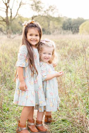 Family Photos Al Sabo Land Preserve Kalamazoo Michigan Open Field two little girls sisters