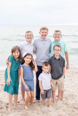 grandchildren photos cousins group on the beach Lake Michigan South Haven Michigan