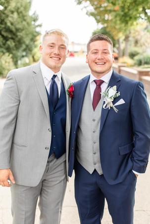 groom and best man wedding American 1 event center Jackson michigan