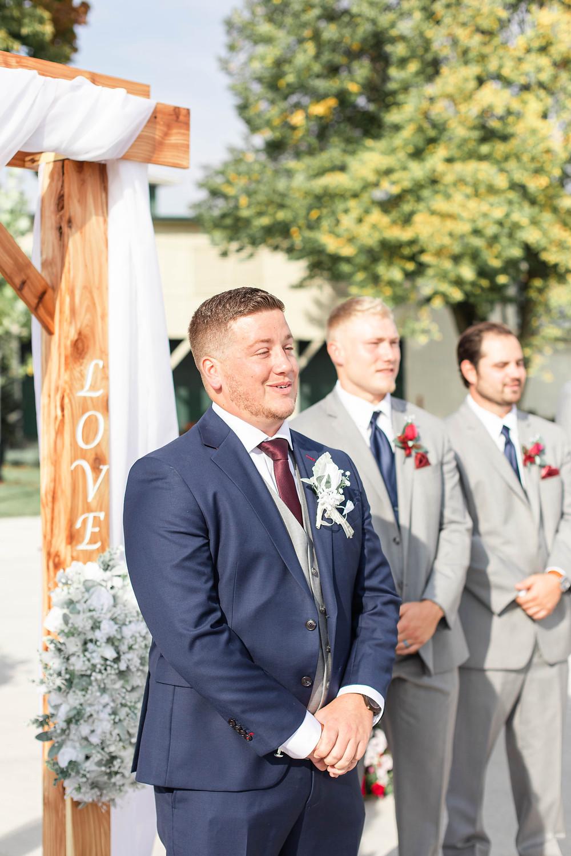 groom wedding American 1 event center Jackson michigan