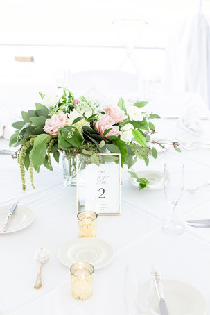 table centerpiece reception Kent Country Club Wedding Grand Rapids