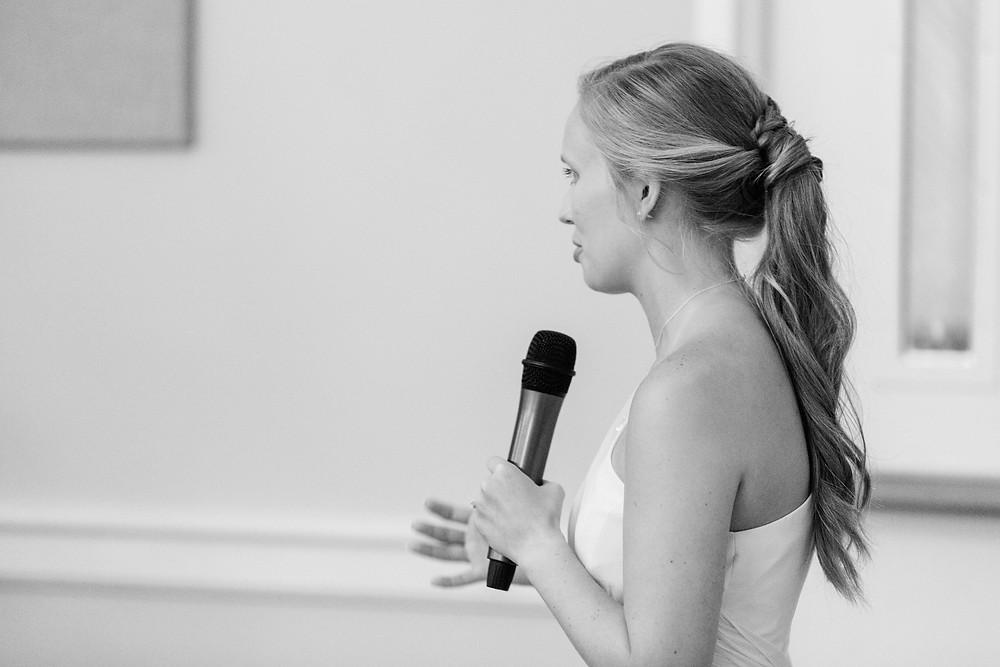 matron on honor giving speech reception Milledgeville Georgia