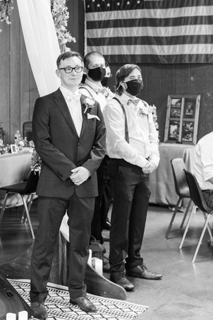 groom and groomsmen Brown Barn Saint Patricks Park South Bend Indiana